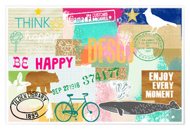 Premium-Poster Enjoy every Moment Collage