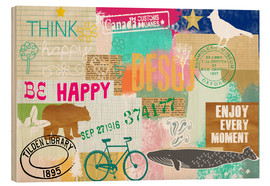 Holzbild  Enjoy every Moment Collage - GreenNest