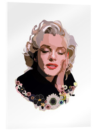 Acrylglas  Marilyn Monroe With Flowers - Anna McKay