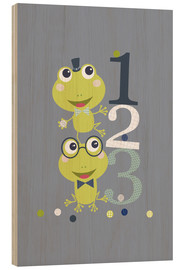 Holzbild  Frogs gplaying - Jaysanstudio