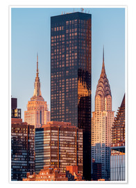 Premium-Poster Empire State und Chrysler Building