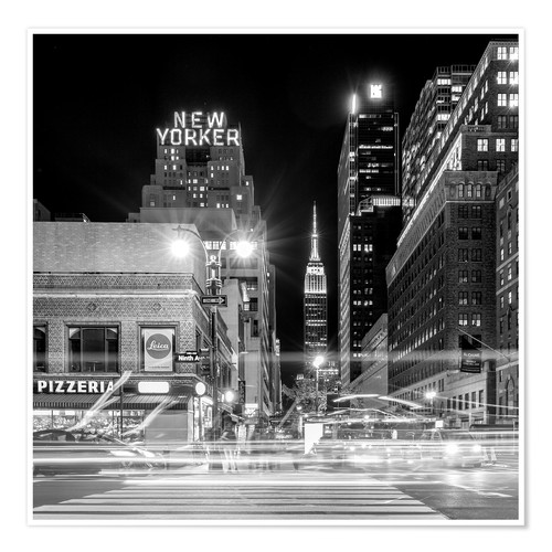Premium-Poster New Yorker * Empire State Building (monochrom)