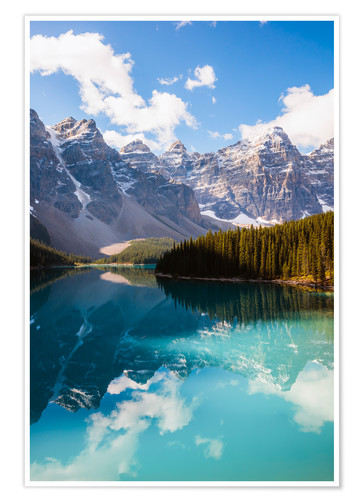 Premium-Poster Lake Moraine in den kanadischen Rocky Mountains