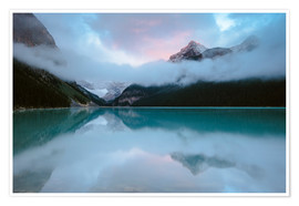 Premium-Poster Dawn am Lake Louise, Banff, Kanada