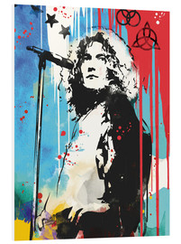 Hartschaumbild  Robert Plant, Led Zeppelin - 2ToastDesign