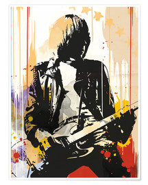 Premium-Poster The ramones Johnny Ramone art