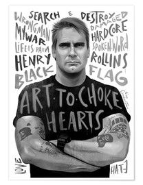 Premium-Poster henry rollins