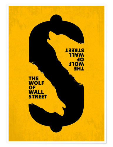 Premium-Poster The Wolf of Wall Street - Minimal Movie Art