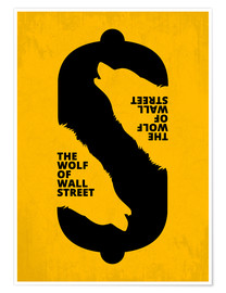 Premium-Poster  The Wolf of Wall Street - Minimal Movie Art - HDMI2K