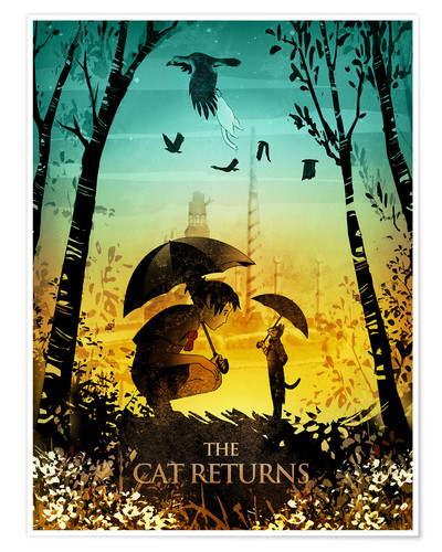 Premium-Poster The Cat Returns