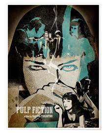 Premium-Poster  Pulp Fiction - Albert Cagnef