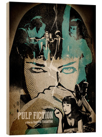 Holzbild  Pulp Fiction - Albert Cagnef