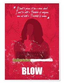 Premium-Poster Blow - Minimal Alternative Movie Fanart