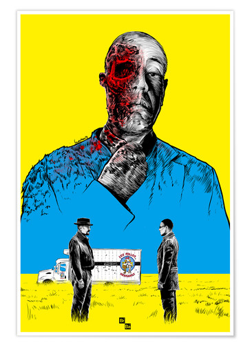 Premium-Poster Breaking Bad Gus Fring death whit blood