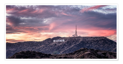Premium-Poster Hollywood Hills