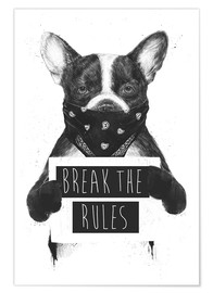 Premium-Poster Rebel dog