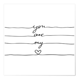 Poster  You are my heart - Mareike Böhmer Graphics