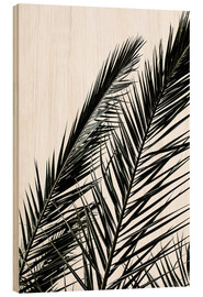 Holzbild  Palm Leaves - Mareike Böhmer Photography