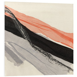 Hartschaumbild  Peach and Black abstract - Jan Sullivan Fowler