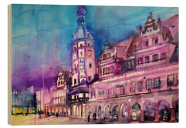 Obraz na drewnie  Leipzig, old town hall - Johann Pickl