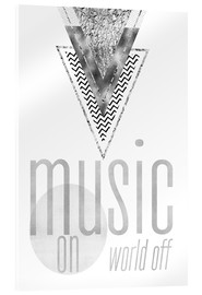 Melanie Viola - GRAPHIC ART SILBER Music on World Off