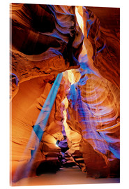 Acrylglasbild  Upper Antelope Canyon Beam - Michael Rucker