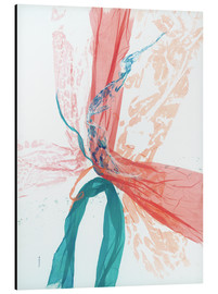 Alu-Dibond  Peach and Teal abstract - Jan Sullivan Fowler