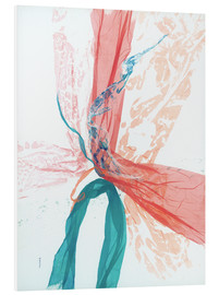 Forex  Peach and Teal abstract - Jan Sullivan Fowler