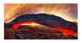 Poster  Mesa Arch Sonnenaufgang, Canyonlands Nationalpark, Utah, USA - Michael Rucker