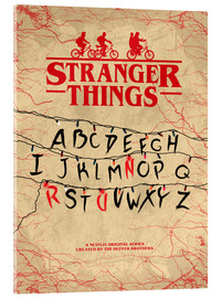 Acrylglas  Stranger Things - Minimal TV-Show Fanart alternative - HDMI2K