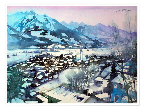 Premium-Poster Winter in Piesendorf