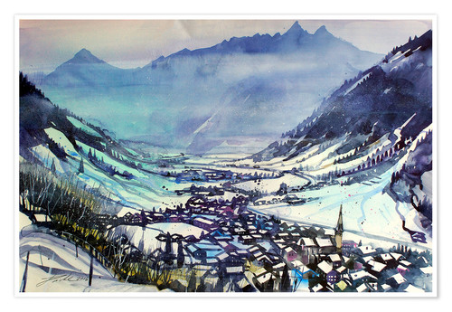 Premium-Poster Rauris im Winter