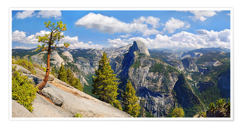Premium-Poster Glacier Point Yosemite Valley Kalifornien USA