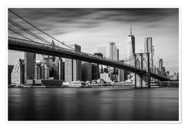 Premium-Poster  New York City - Brooklyn Bridge and Skyline - Dennis Fischer