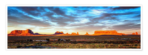 Poster Monument  Valley-Panorama