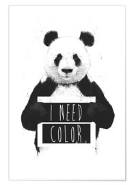 Premium-Poster  I need color - Balazs Solti