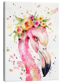 Leinwandbild  Kleiner Flamingo - Sillier Than Sally