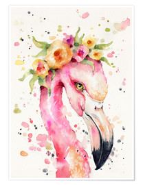 Premium-Poster  Kleiner Flamingo - Sillier Than Sally