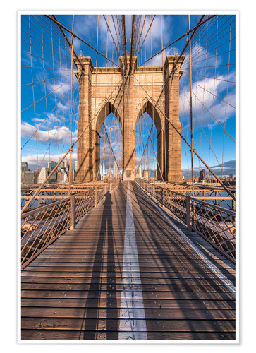 Premium-Poster Brooklyn Bridge New York