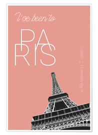 Premium-Poster Pop Art Paris Eiffelturm - I've been to - Blooming Dahlia