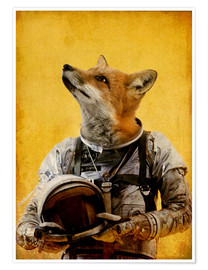 Premium-Poster  Space fox - Durro Art