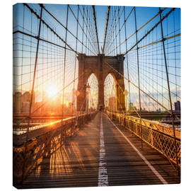 Leinwandbild  Brooklyn Bridge in New York City - Jan Christopher Becke