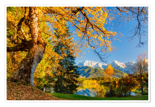 Premium-Poster traumhafter Herbsttag