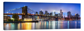 Leinwandbild  Brooklyn Bridge Panorama in New York City, USA - Jan Christopher Becke