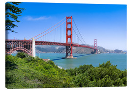Leinwandbild  Golden Gate Bridge in San Francisco, Kalifornien, USA - Jan Christopher Becke