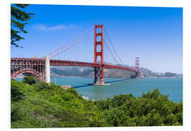 Hartschaumbild  Golden Gate Bridge in San Francisco, Kalifornien, USA - Jan Christopher Becke