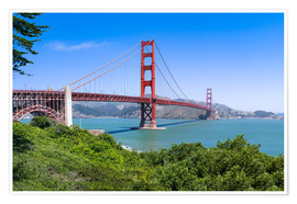 Premium-Poster  Golden Gate Bridge in San Francisco, Kalifornien, USA - Jan Christopher Becke