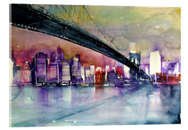 Acrylglasbild  New York, Brooklyn Bridge III - Johann Pickl
