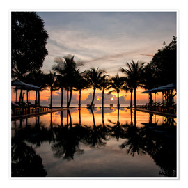 Premium-Poster  Luxus-Infinity-Pool am Golf von Thailand