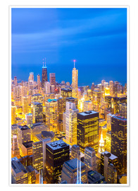 Premium-Poster  Chicago City bei Nacht
